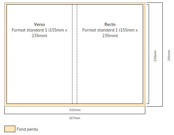couverture de livre - calculez vos dimensions sur Monbeaulivre