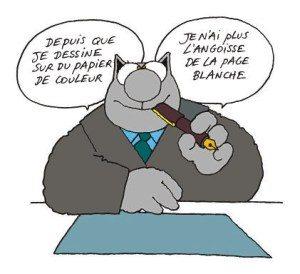 Le chat Philippe Geluck autoédition syndrome de la page blanche