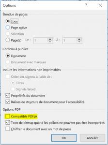 word option pdf 1 formats de livre