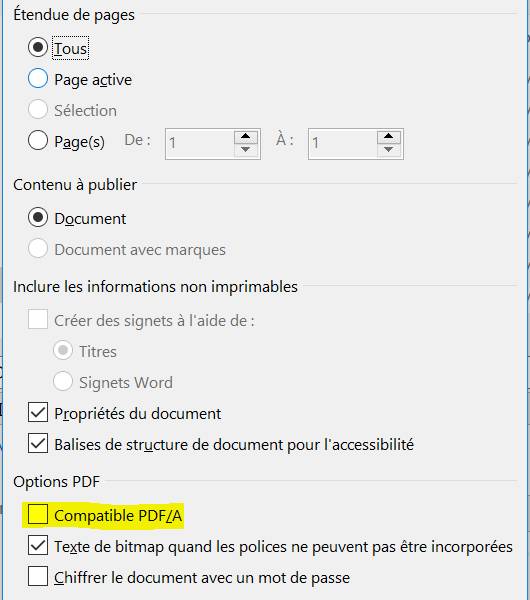 word option pdf 1 formats de livre
