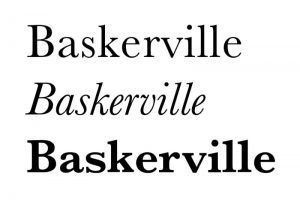 Ecriture Baskerville exemple