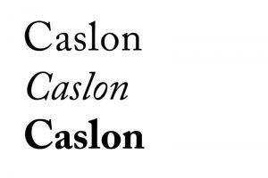 écriture Caslon exemple