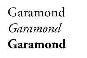 ecriture Garamond exemple