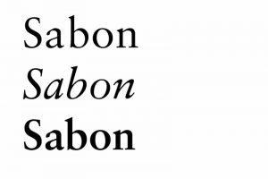 ecriture Sabon exemple