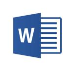 Logo word utilisation pour manuscrit